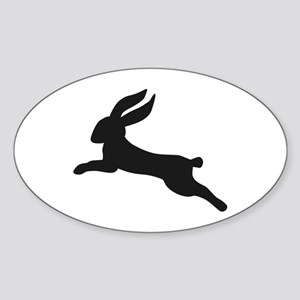 Black bunny rabbit Sticker (Oval)